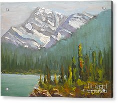 Mt. Edith Cavell Acrylic Print
