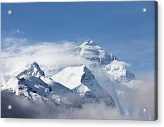 Mt Everest, From Mt Everest Base Camp Acrylic Print by Sean Caffrey