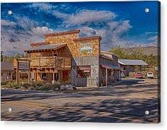 Mt Gardner Inn And Fly Shop Acrylic Print by Omaste Witkowski