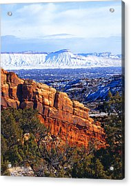Mt. Garfield In The Distance Acrylic Print