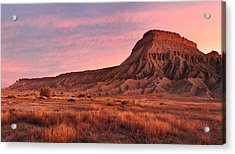 Acrylic Print featuring the photograph Mt Garfield Sunrise by Ronda Kimbrow