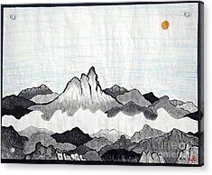Mt. Himang Acrylic Print by Taikan Nishimoto