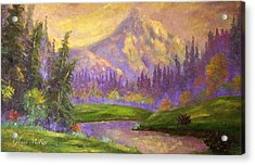 Mt. Hood At Dawn's Early Light Acrylic Print