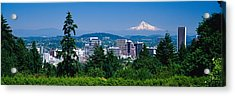 Mt Hood Portland Oregon Usa Acrylic Print by Panoramic Images