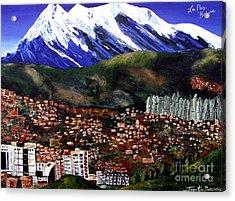 Mt Illimani La Paz Bolivia Acrylic Print