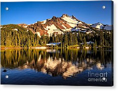 Mt. Jefferson Reflected In Alpine Lake Acrylic Print