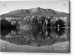 Mt Katahdin Black And White Acrylic Print