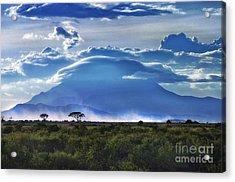 Mt Kilimanjaro Acrylic Print