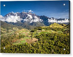 Mt. Kinabalu - The Highest Mountain In Borneo Acrylic Print by Veronika Polaskova