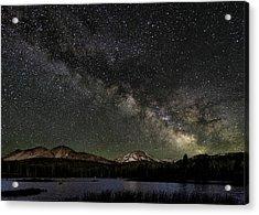 Mt Lassen And Milky Way Acrylic Print