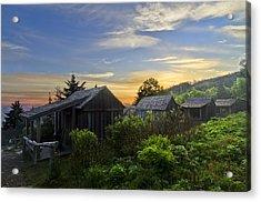 Mt Leconte Before Dawn Acrylic Print by Debra and Dave Vanderlaan