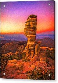 Mt. Lemmon Hoodoo Artistic Acrylic Print