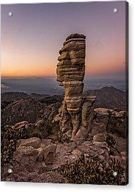 Mt. Lemmon Hoodoo Acrylic Print