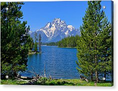 Mt Moran At Half Moon Bay Acrylic Print