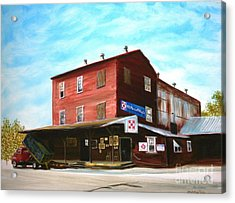 Acrylic Print featuring the painting Mt. Pleasant Milling Company by Stacy C Bottoms