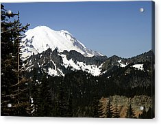 Mt Rainer From Wa-410 Acrylic Print