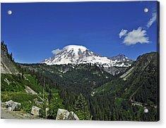 Mt Rainier Between The Valley Acrylic Print