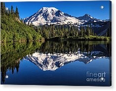 Mt. Rainier From Bench Lake Acrylic Print