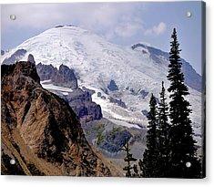 Mt Rainier From Panhandle Gap Acrylic Print by Scott Nelson