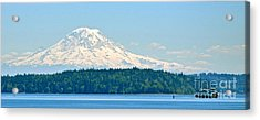 Mt Rainier From The Sound Acrylic Print