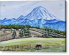 Mt Rainier  Acrylic Print