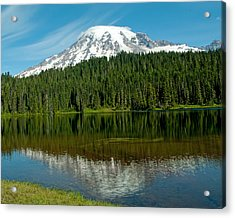 Acrylic Print featuring the photograph Mt. Rainier II by Tikvah's Hope