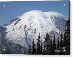 Acrylic Print featuring the photograph Mt. Rainier In August 2 by Chalet Roome-Rigdon