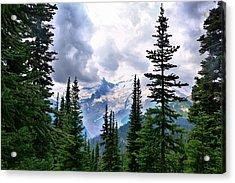 Acrylic Print featuring the photograph Mt Rainier by Lynn Hopwood