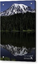Mt Rainier Reflected In Reflection Lake Acrylic Print