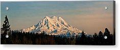 Mt Rainier Winter Panorama Acrylic Print