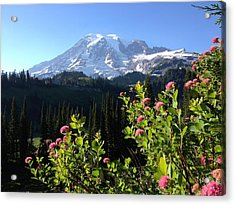 Mt. Rainier's Magesty Acrylic Print by Jerry Browning