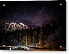 Mt. Rose Highway And Ski Resort At Night Acrylic Print by Scott McGuire