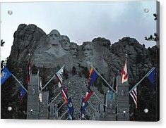 Mt. Rushmore In The Evening Acrylic Print