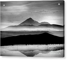 Acrylic Print featuring the photograph Mt. Shasta by Irina Hays