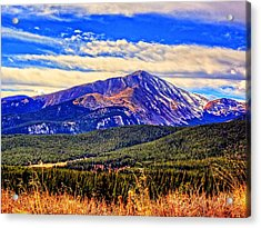 Mt. Silverheels II Acrylic Print by Lanita Williams