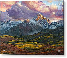 Acrylic Print featuring the painting Mt. Sneffels by Aaron Spong