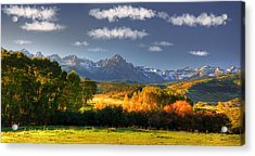 Mt Sneffels And The Dallas Divide Acrylic Print by Ken Smith