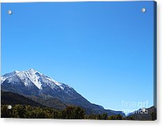 Acrylic Print featuring the photograph Mt. Sopris by Kate Avery