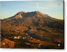 Mt St Helens From Johnsons Observatory Acrylic Print by Jeff Swan