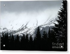 Mt St Helens........a Looming Storm Acrylic Print by Rich Collins