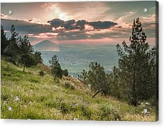 Mt. Tabor From Mt. Of Precipice Acrylic Print by Sergey Simanovsky