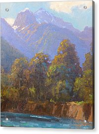 Mt. Tewhero Holyford V.landscape Acrylic Print by Terry Perham