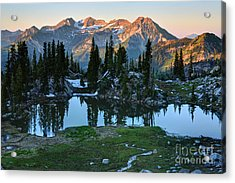 Mt. Timpanogos At Sunrise From Silver Glance Lake Acrylic Print