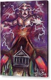 Mt. Vesuvius - Jupiter's Fury Acrylic Print by Samantha Geernaert
