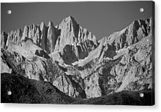 Mt. Whitney In Black And White Acrylic Print by Eric Tressler