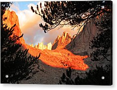 Acrylic Print featuring the photograph Mt. Whitney Sunrise by Alan Socolik