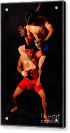 Muay Thai Arts Of Fighting Acrylic Print by Rames Ratyantarakor