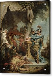 Mucius Scaevola Before Porsenna Oil On Canvas Acrylic Print by Francois Boucher