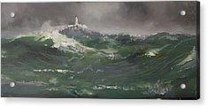 Muckle Flugga Lighthouse Shetland Acrylic Print