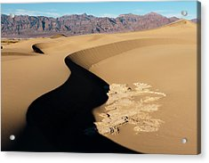 Mud Formations In Mesquite Sand Dunes Acrylic Print